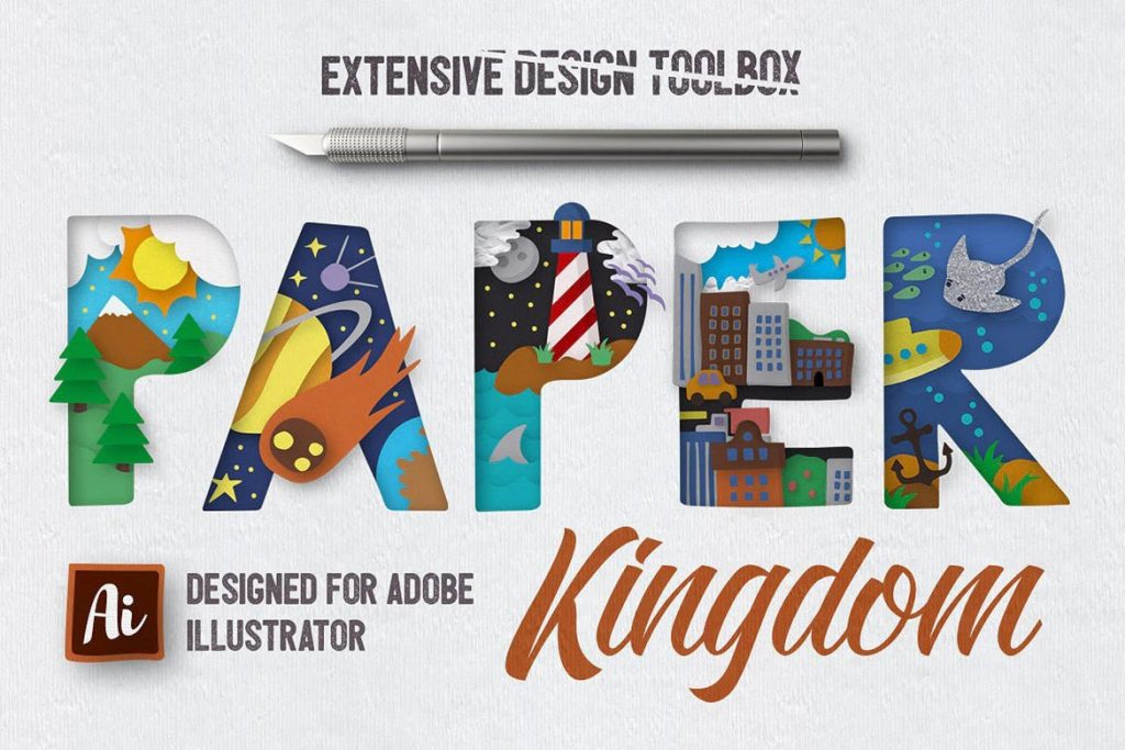 Paper Kingdom Illustrator图形样式插图