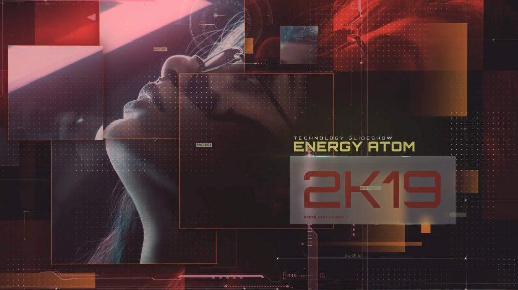 AE模板-能源原子技术幻灯片插图