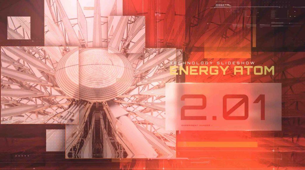 AE模板-能源原子技术幻灯片插图1