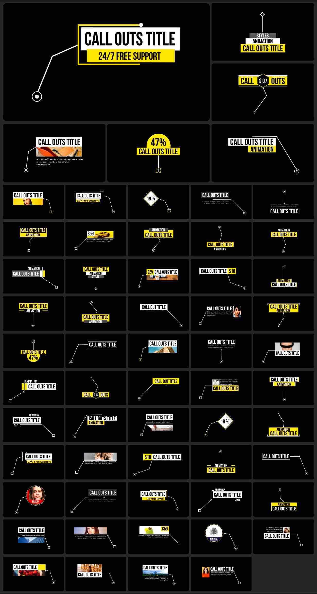 AE模板-2200+效果工具图形库 Graphics Pack插图13