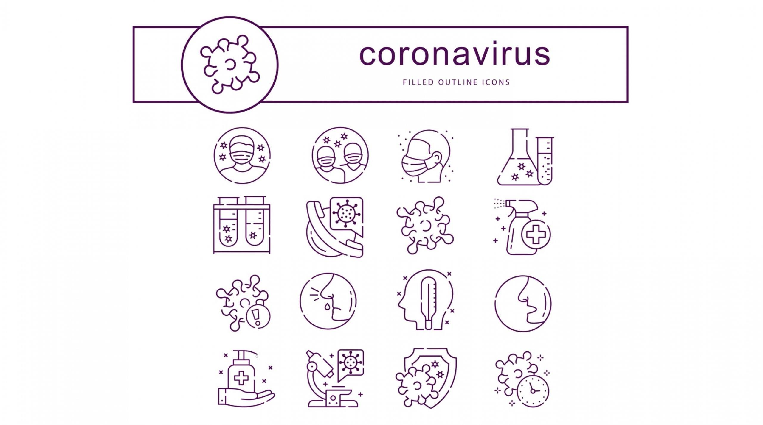 AE模板-冠状病毒动画图标插图