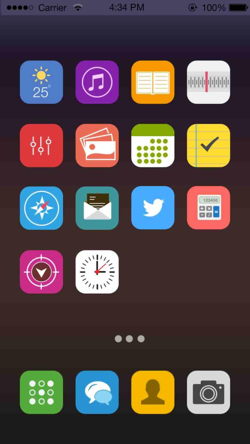 充满活力的iOS图标集插图