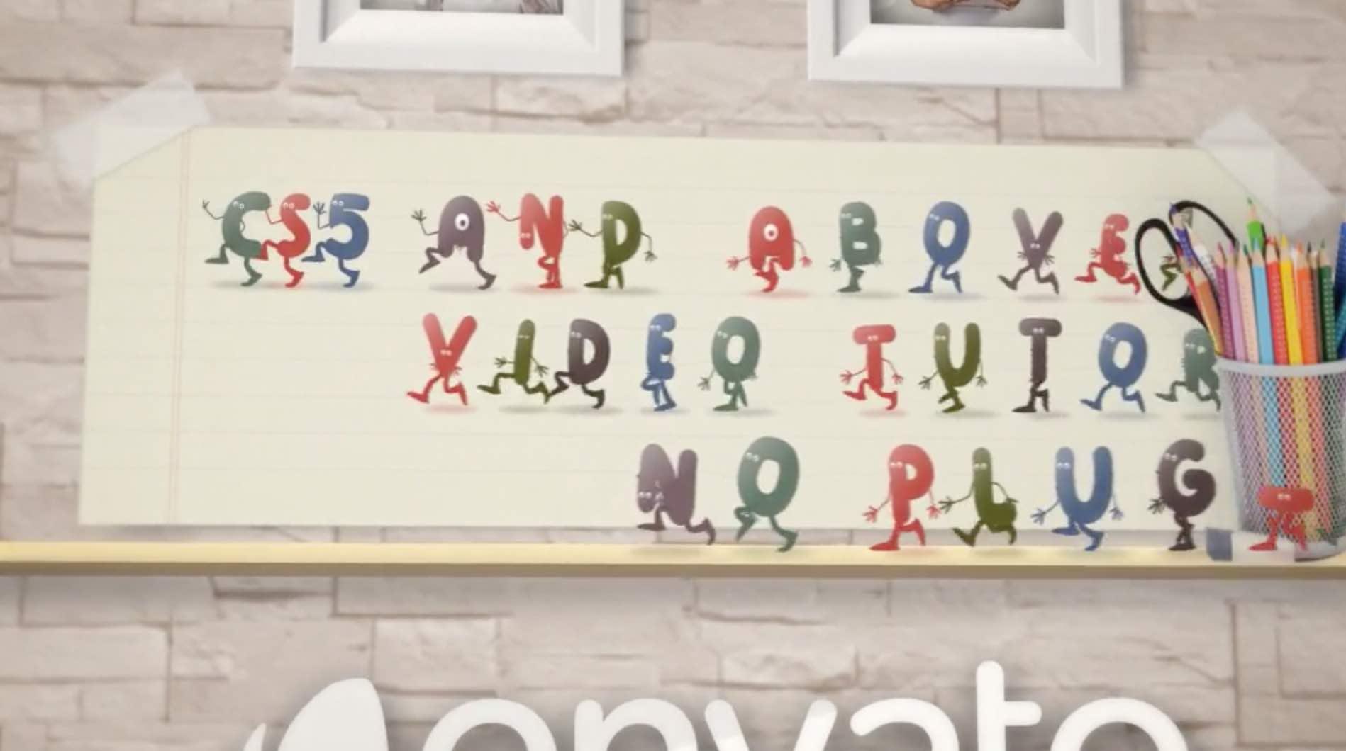 AE模板-卡通字母开场插图2