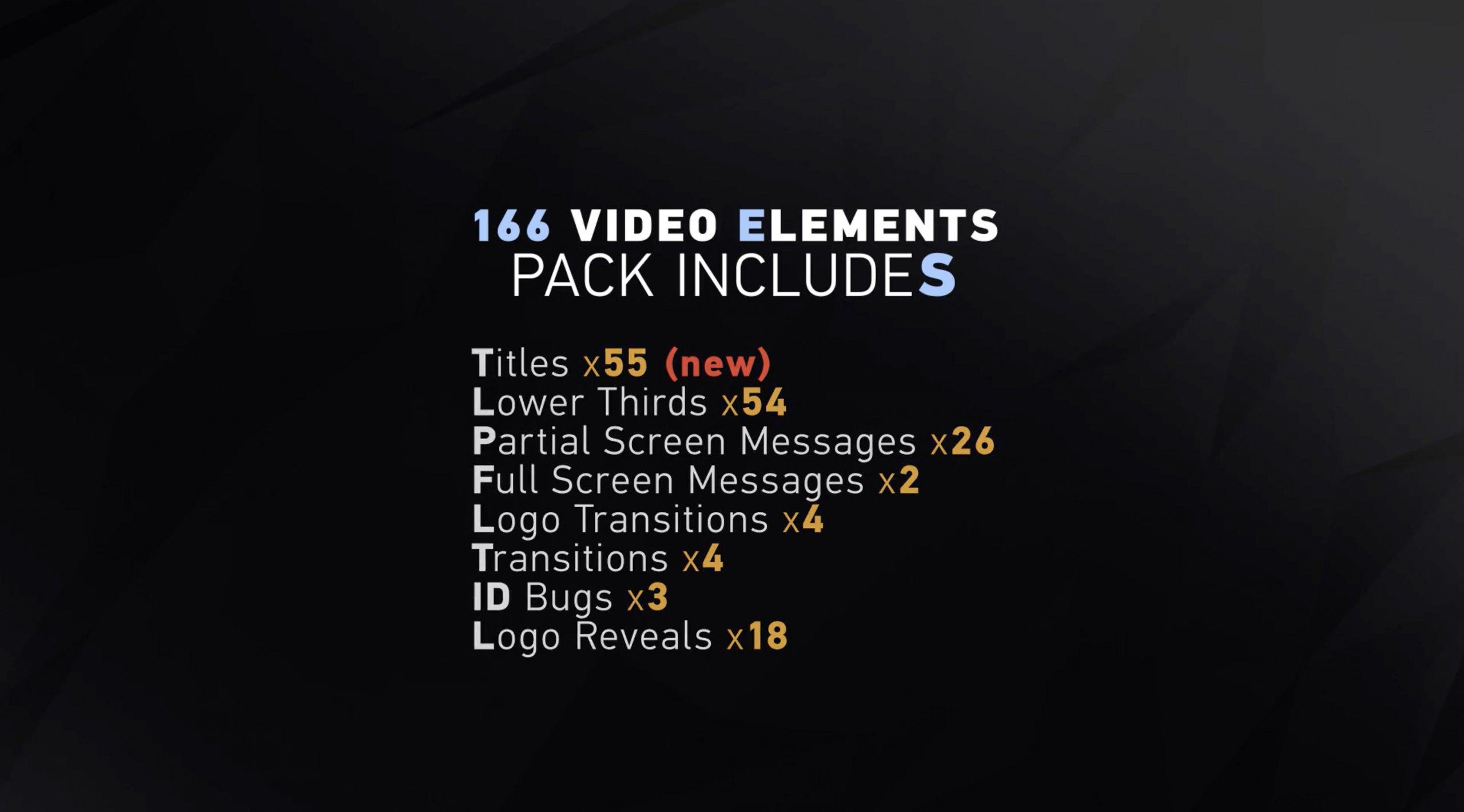AE模板-VidPack v2 标题 字幕 logo集合插图6