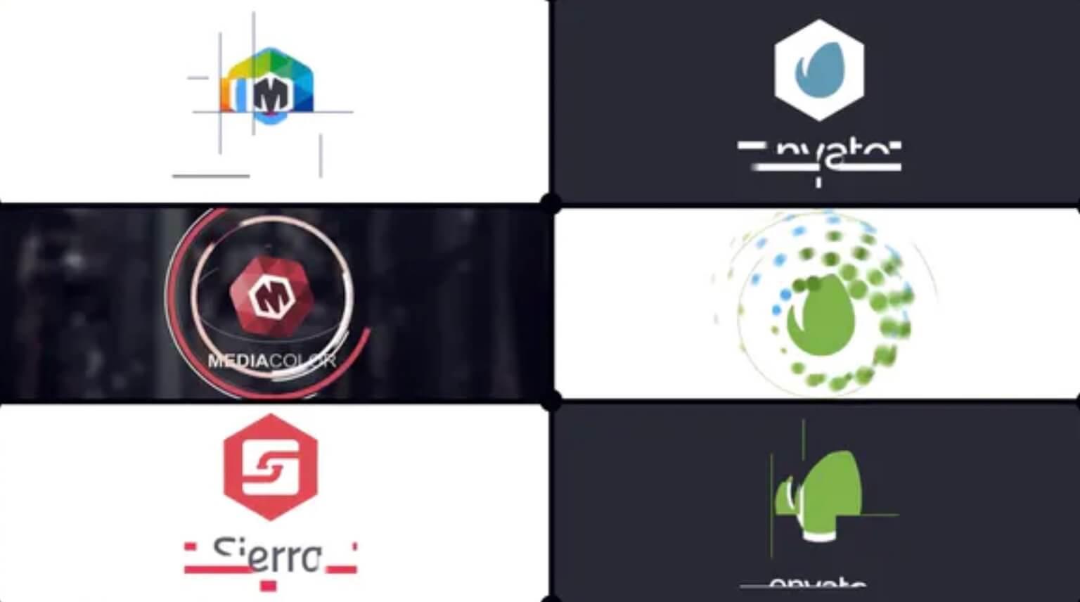 AE模板-平面公司logo插图