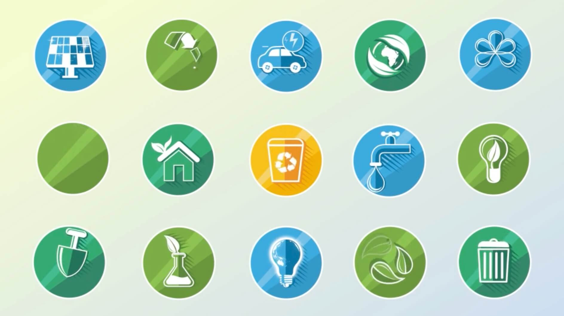 AE模板-生态概念动态icon图标插图