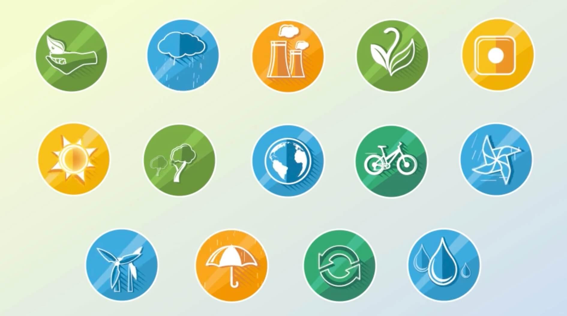 AE模板-生态概念动态icon图标插图1