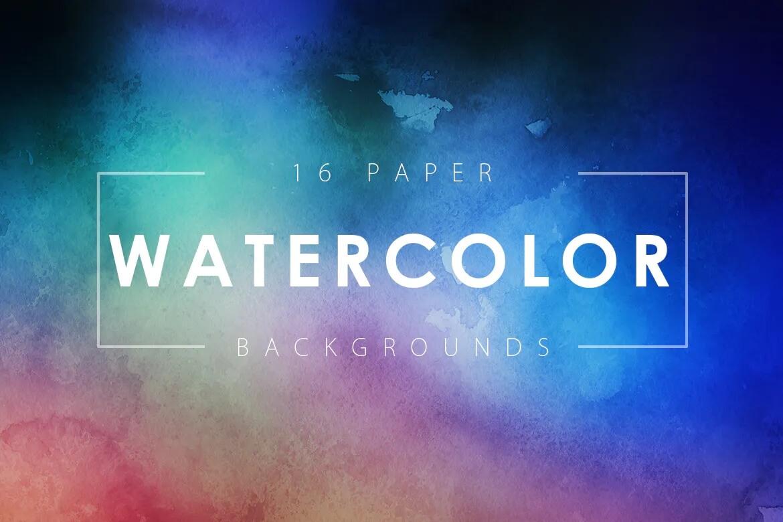 水彩纸背景插图