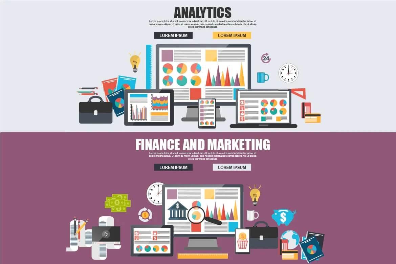 平面业务分析和营销理念插图