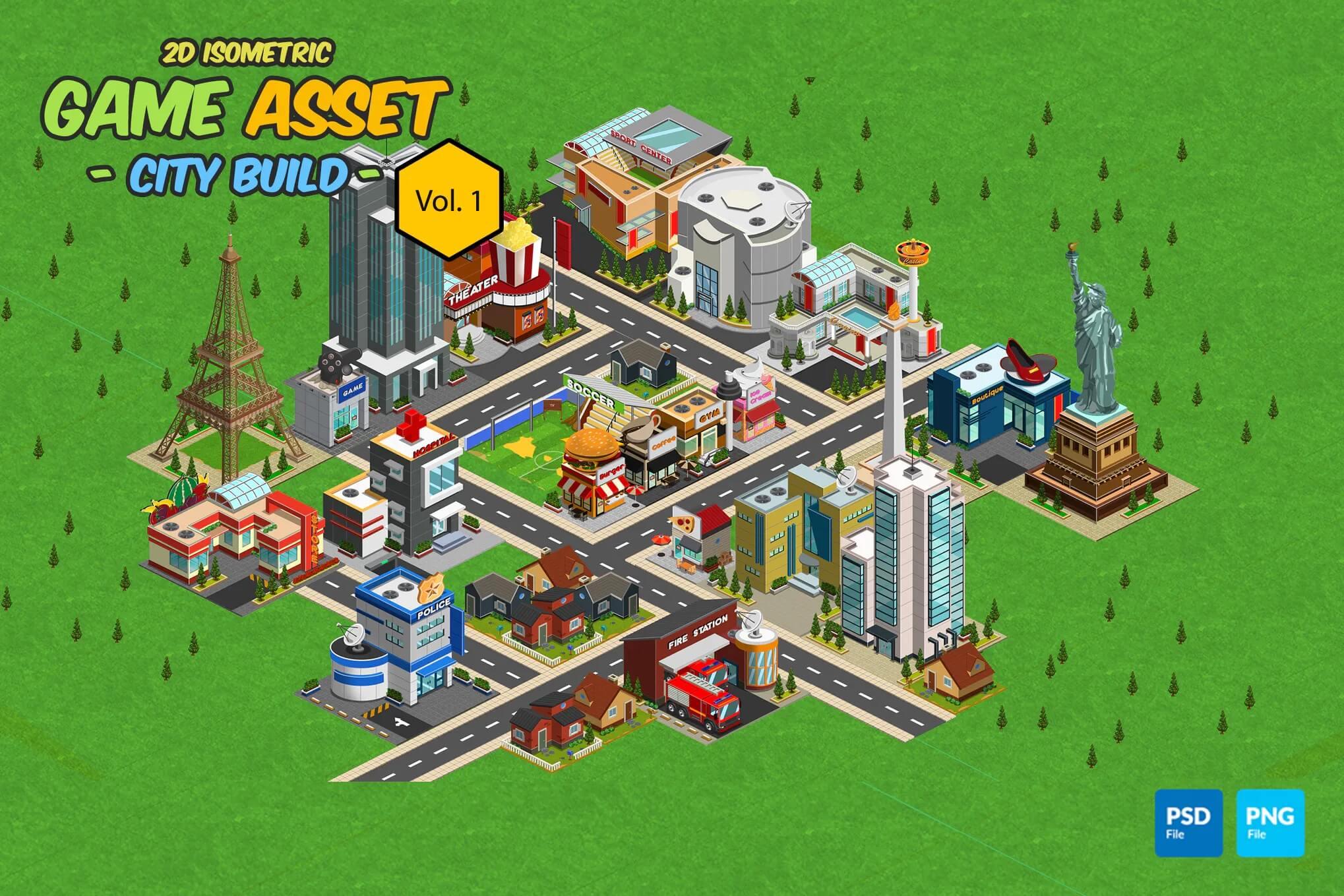 2D等距游戏资产-城市构建插图