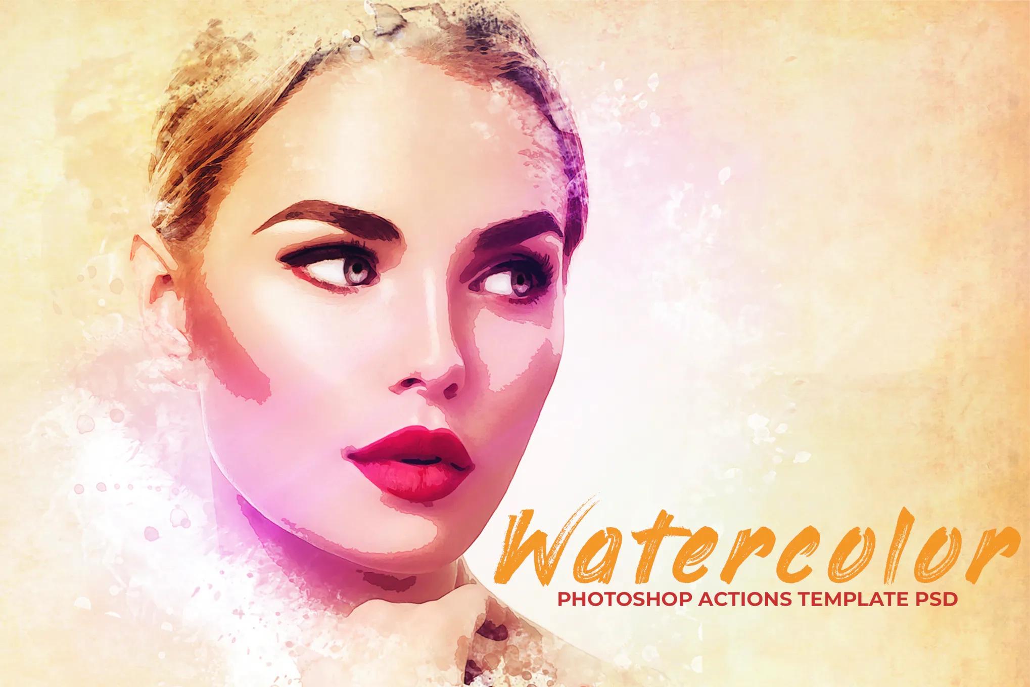 水彩Photoshop PSD模板插图