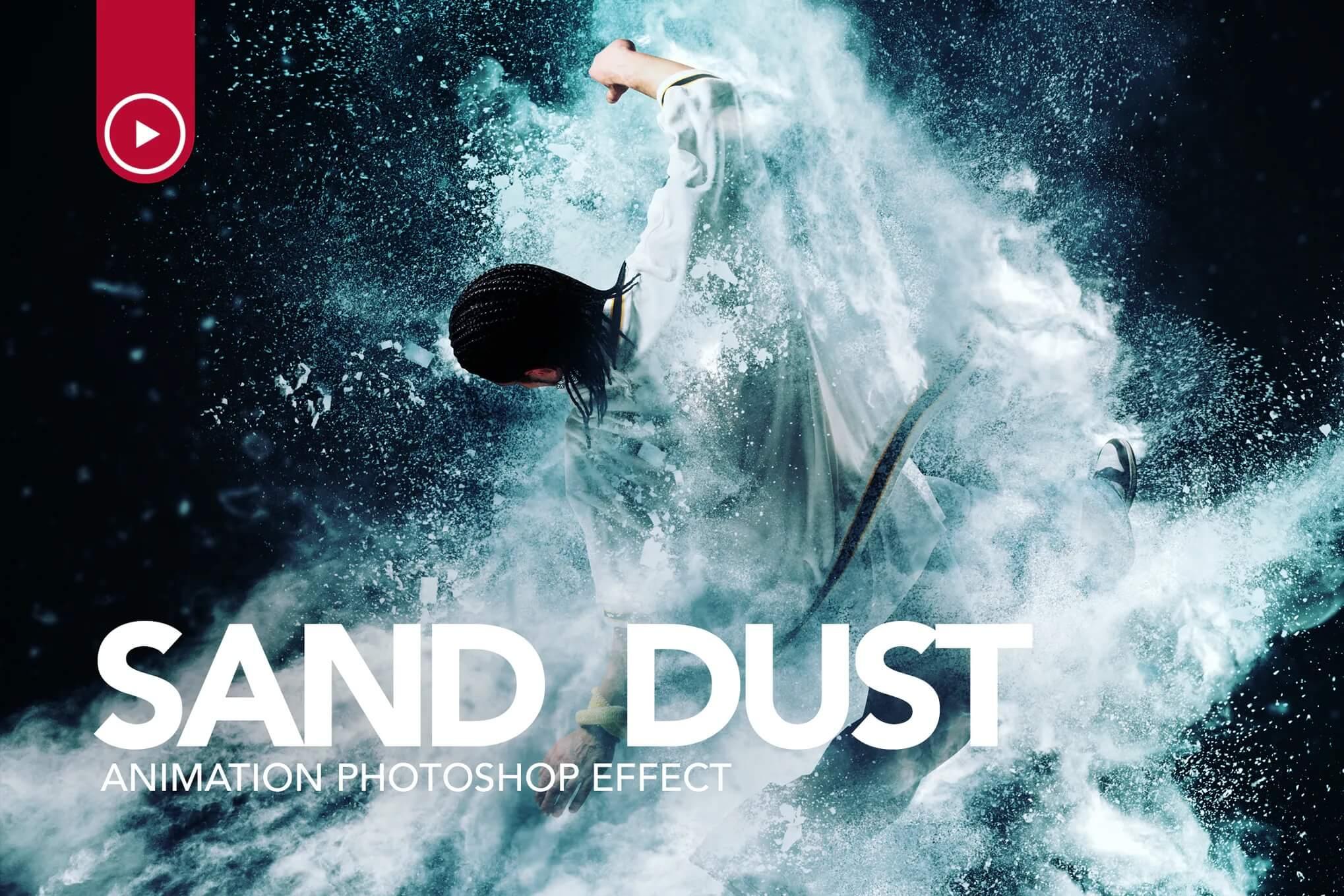 沙尘/粉末爆炸Photoshop动作插图