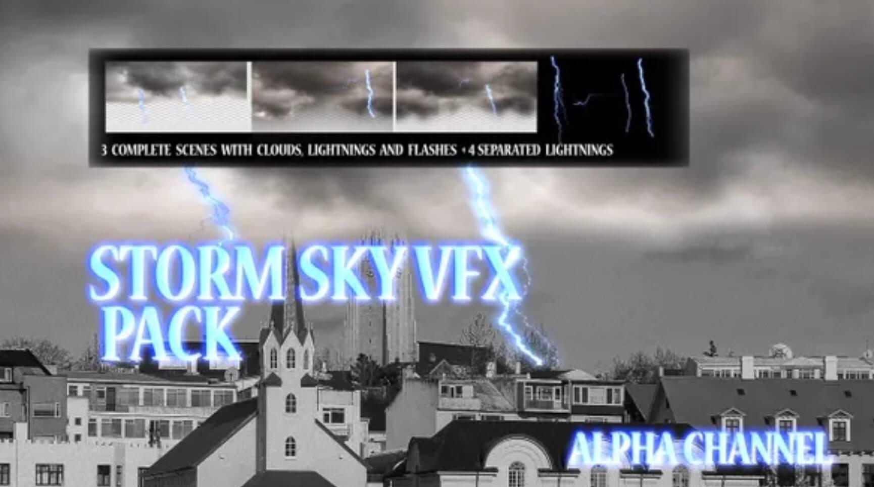 暴风雨的天空VFX包插图