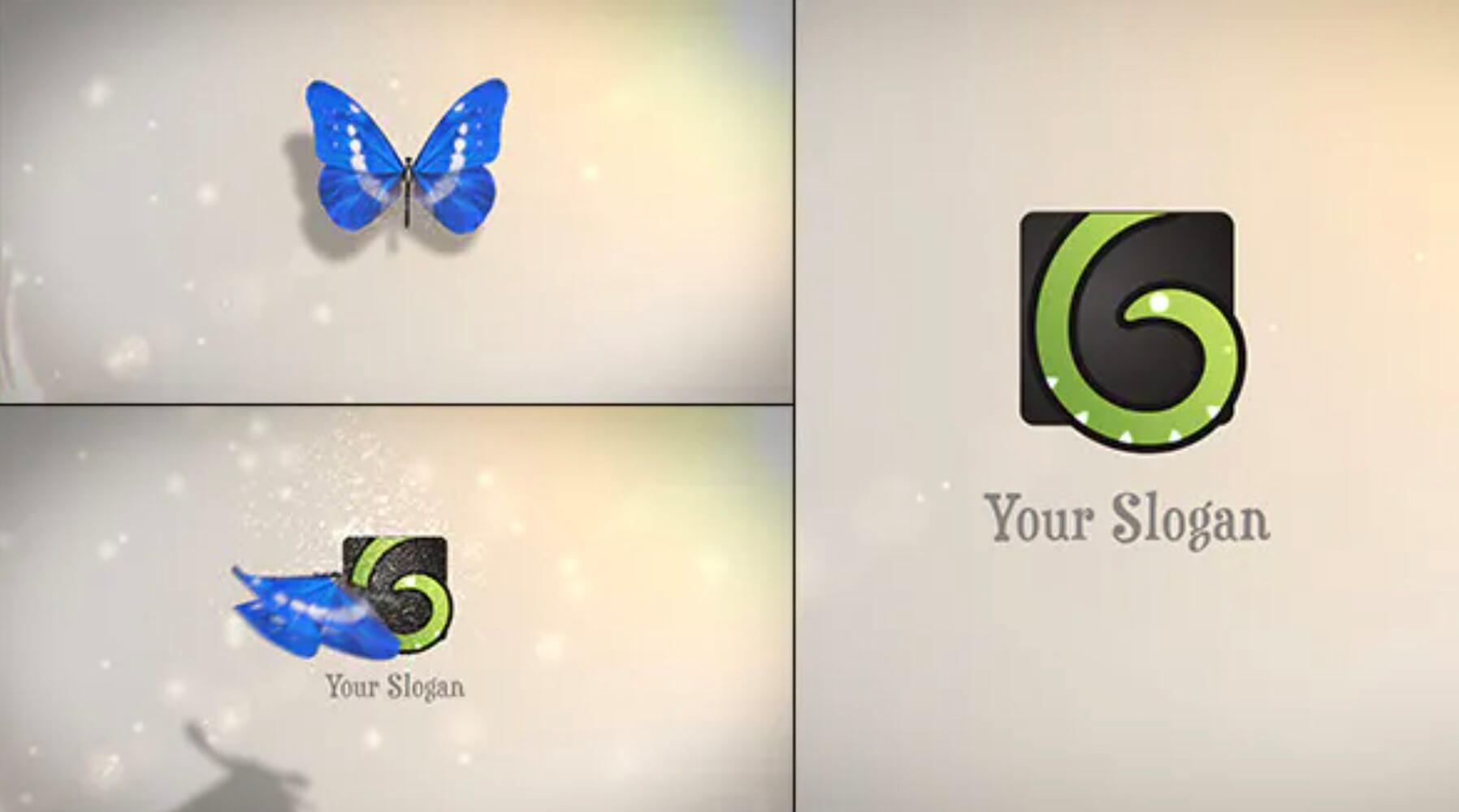 AE模板-蝴蝶logo插图