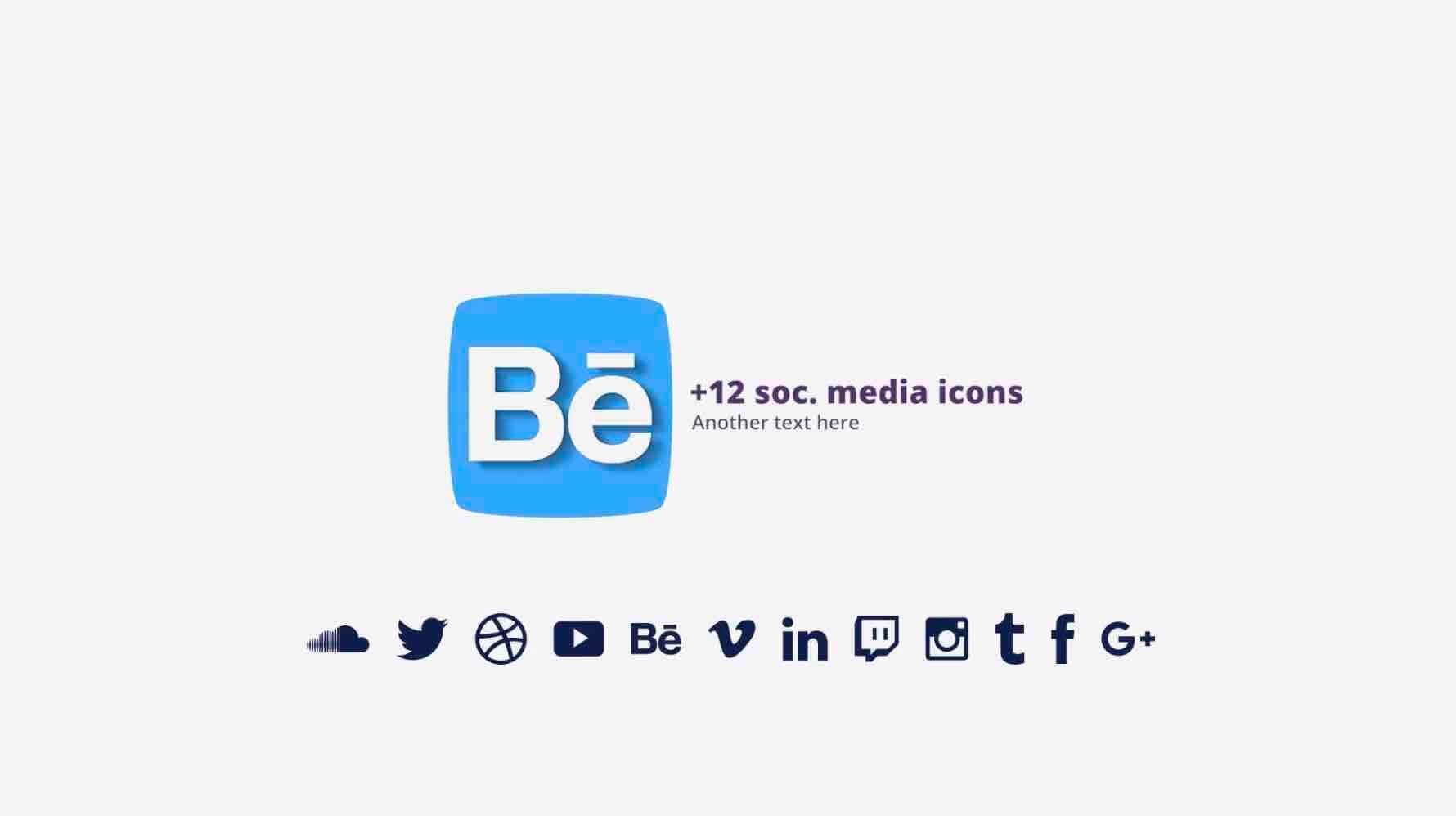 PR模板-简单的平面logo插图