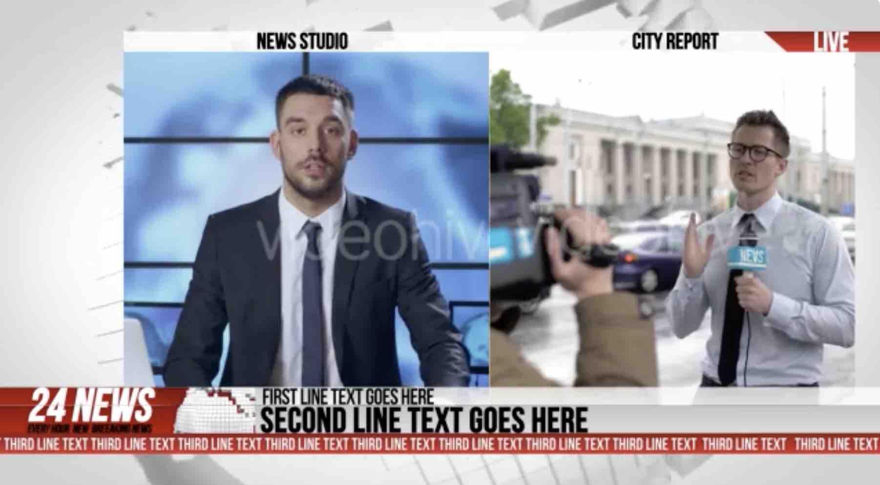 AE模板-24小时广播新闻完整电视栏目包装插图3