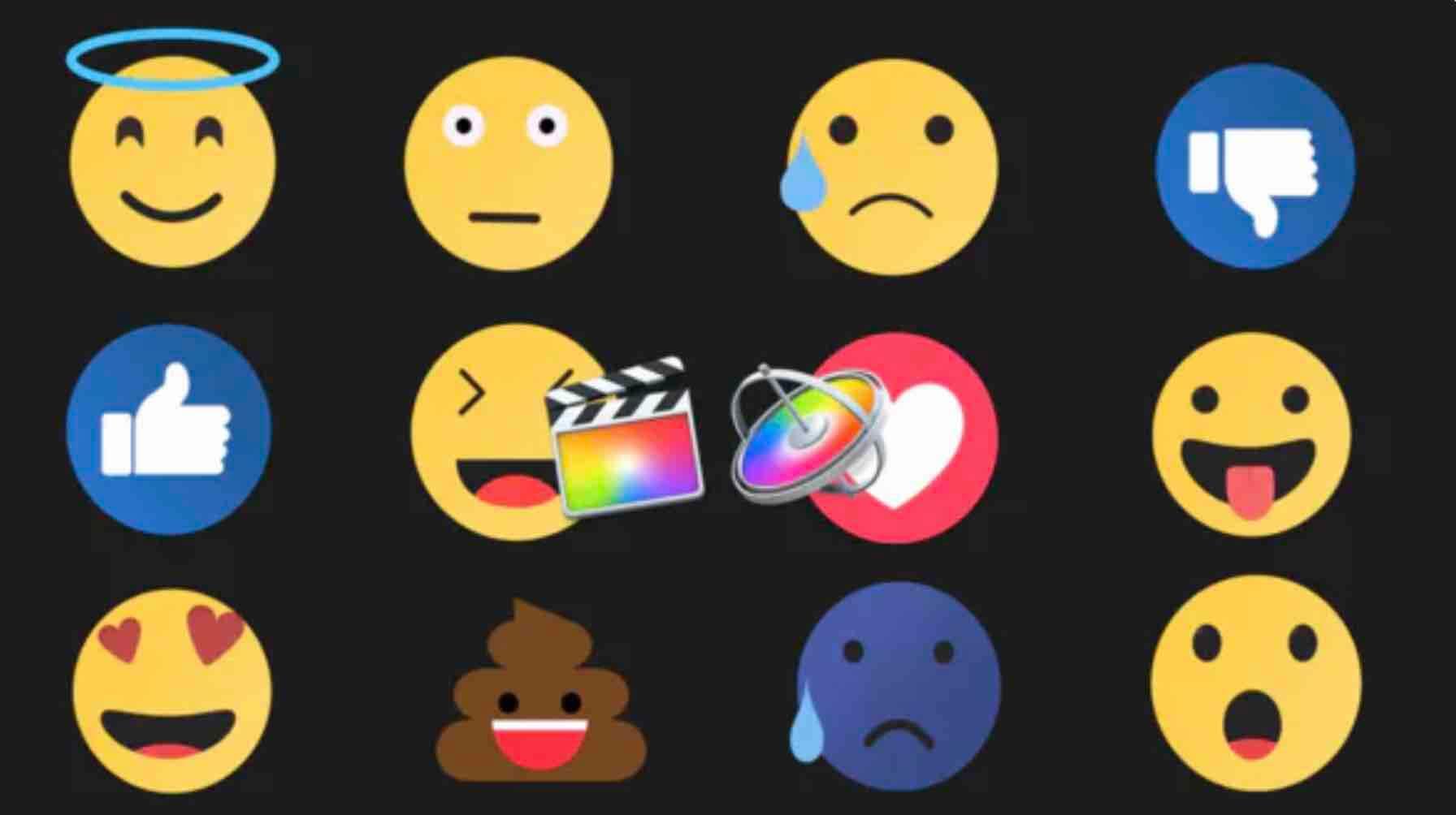 13+种不同的动画表情符号-Emoijs动画包-FCPX插图