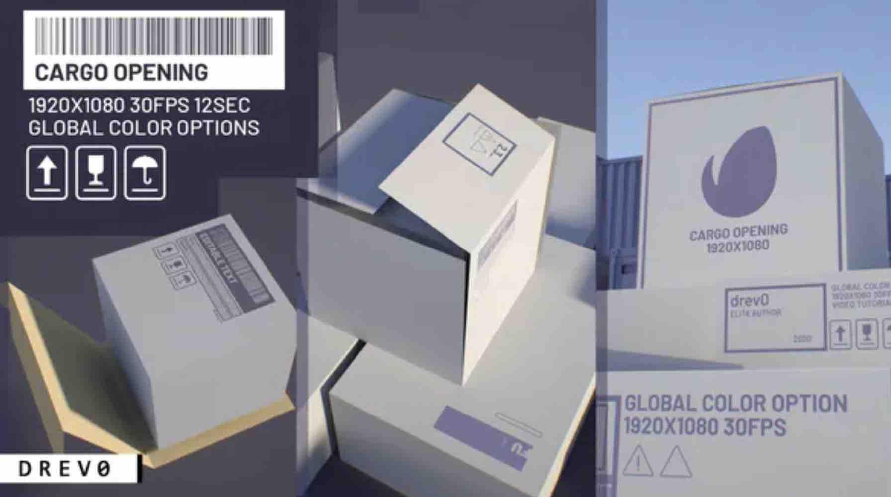 AE模板-货物开仓/运输/集装箱运输/卡车运输/Сourier/快速交货/ APP插图