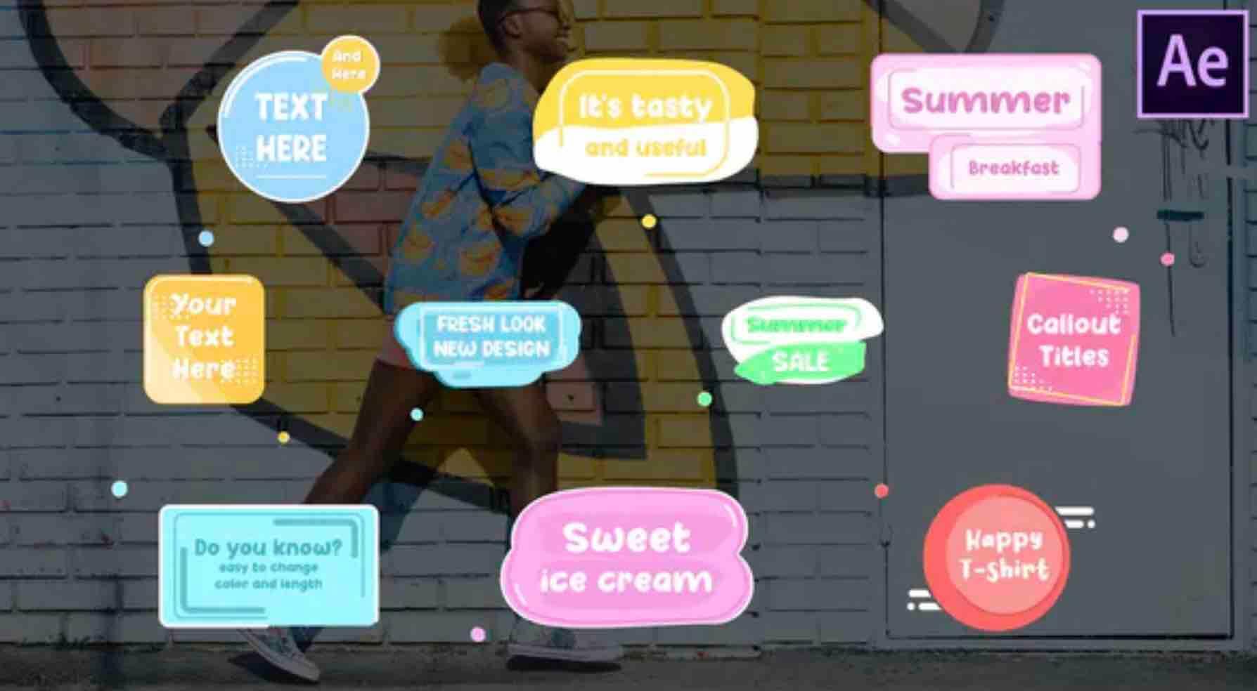 AE模板-卡通标题插图