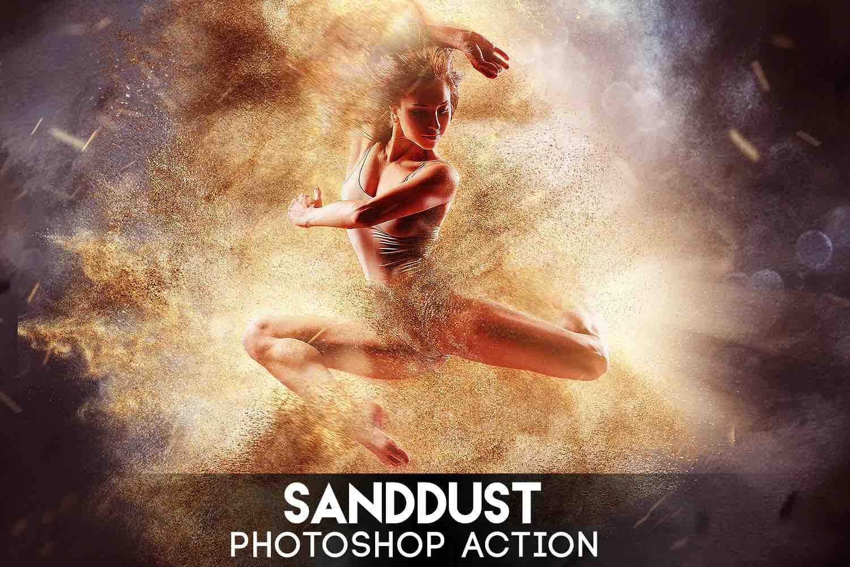 %title插图%num零号CG视觉平台SandDust Photoshop动作