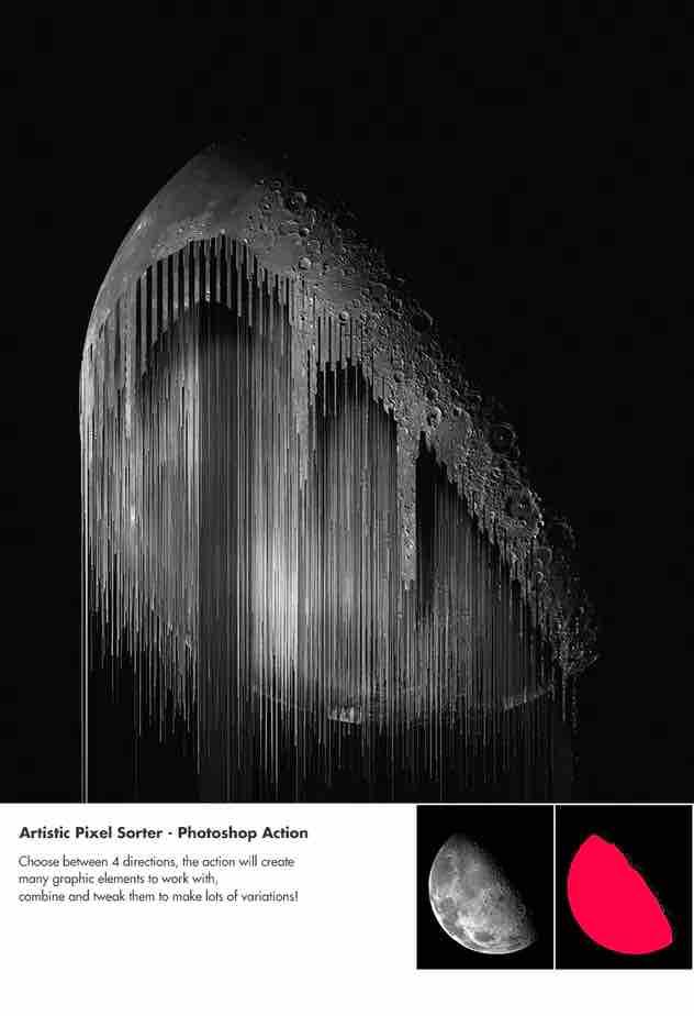 艺术像素排序器-Photoshop动作插图1
