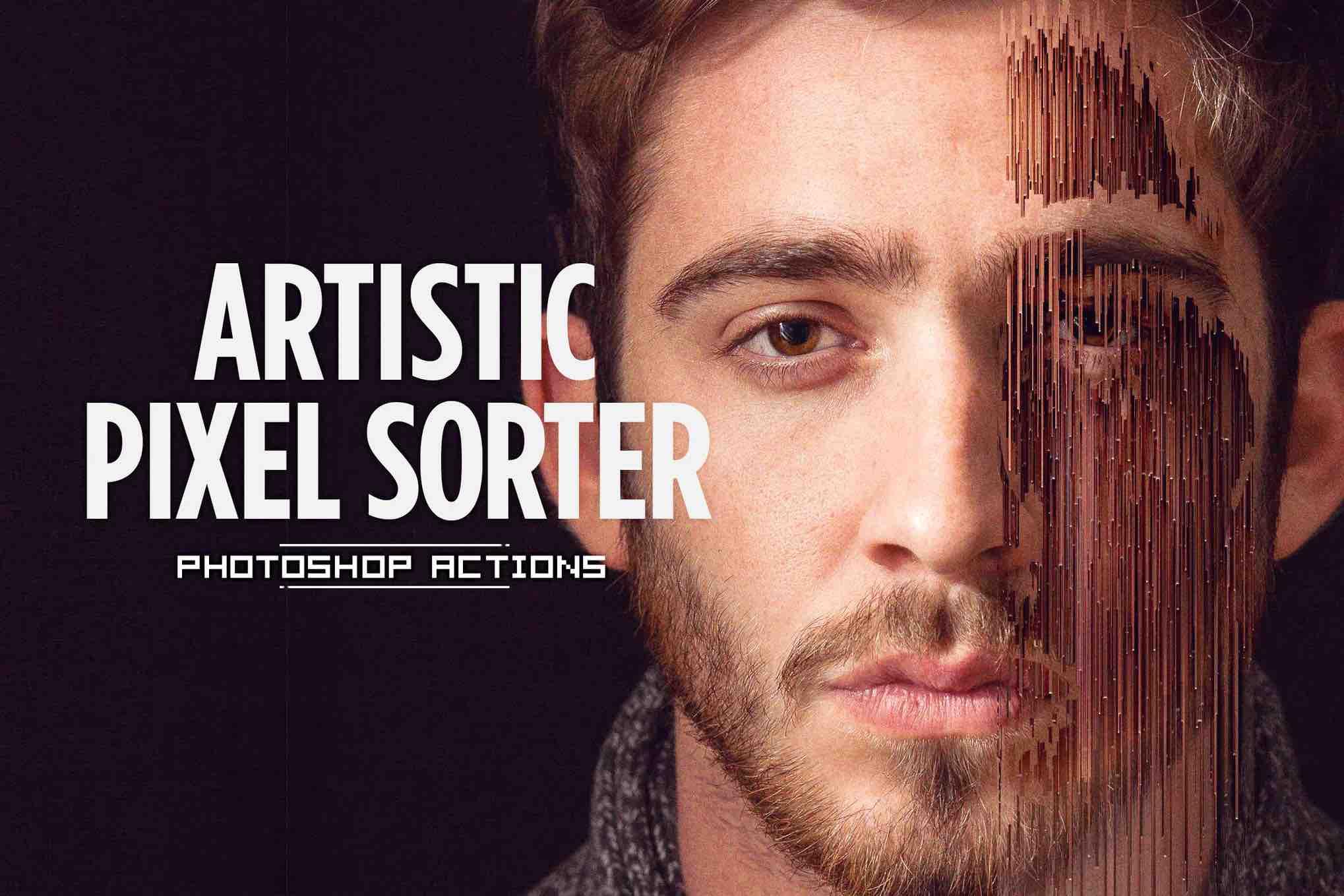 艺术像素排序器-Photoshop动作插图