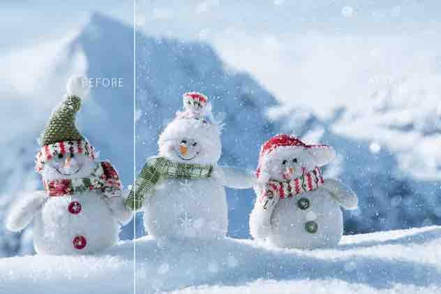 真正的雪(透明通道)插图2
