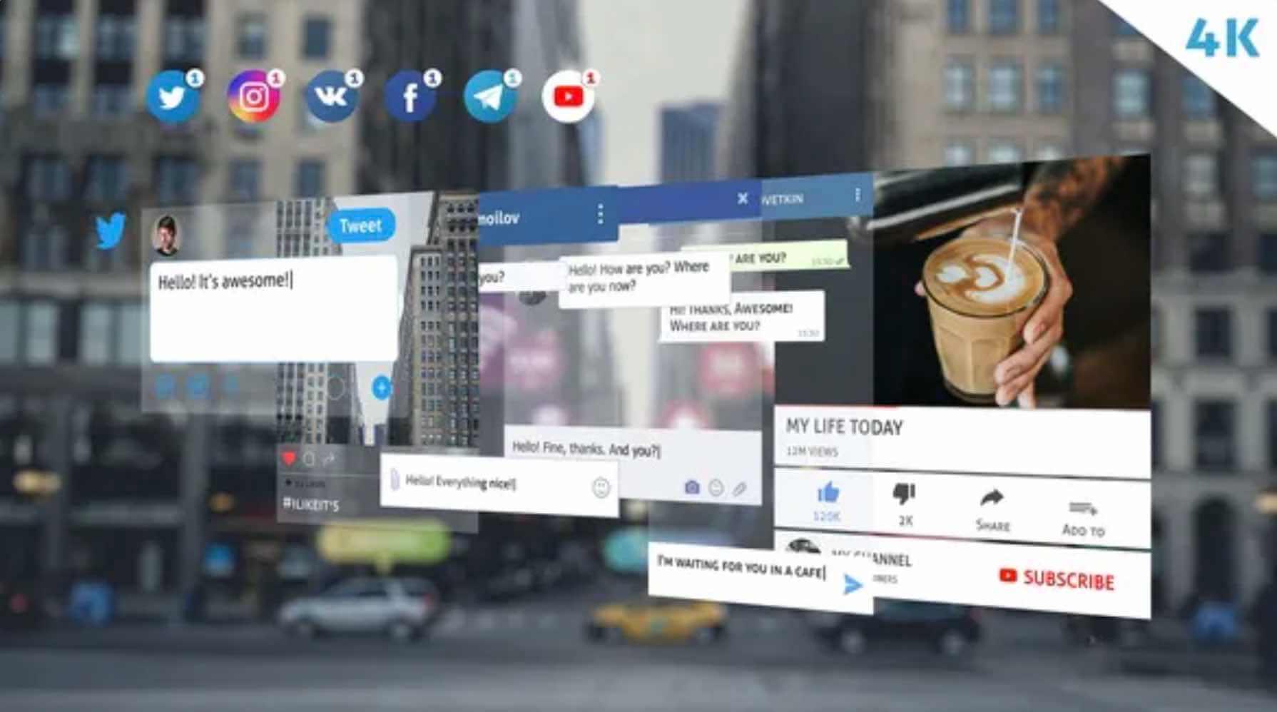 %title插图%num零号CG视觉平台AE模板-4K社交媒体包