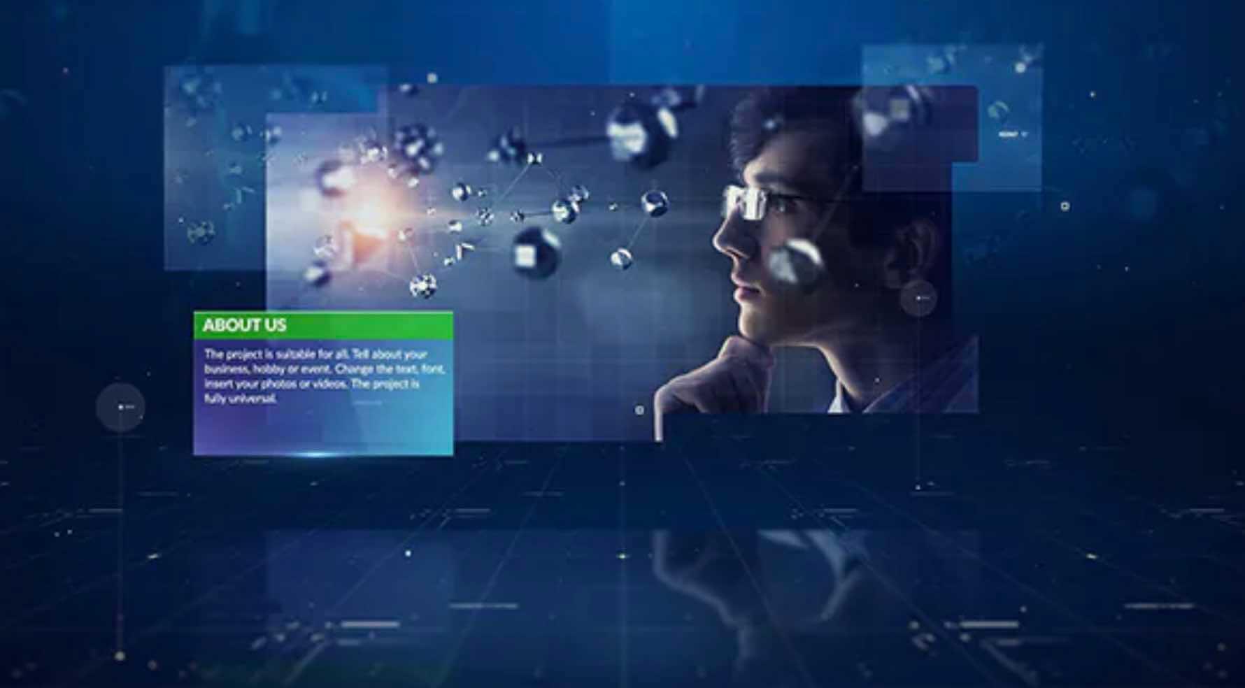 AE模板-数码空间幻灯片插图