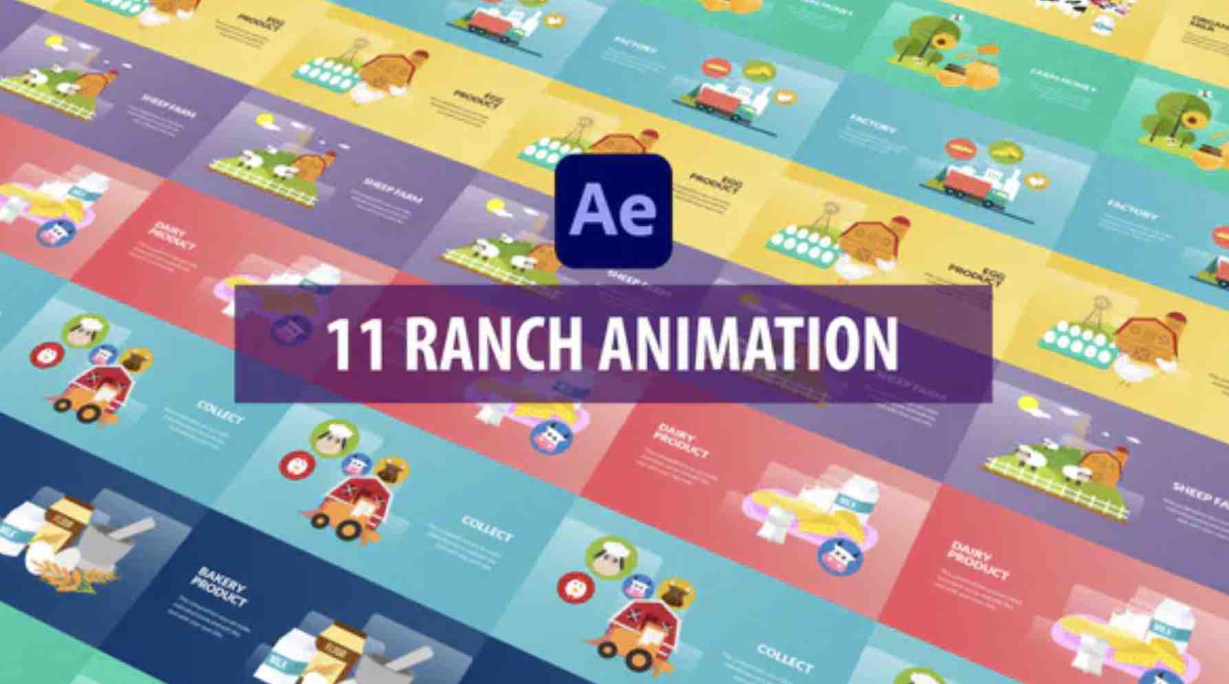 AE模板-11个牧场元素MG动画插图