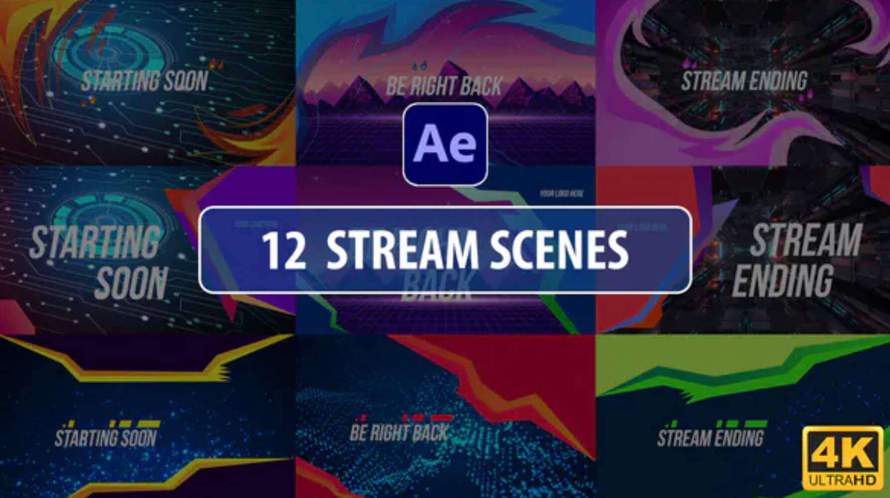 %title插图%num零号CG视觉平台AE模板-12个MG流场景