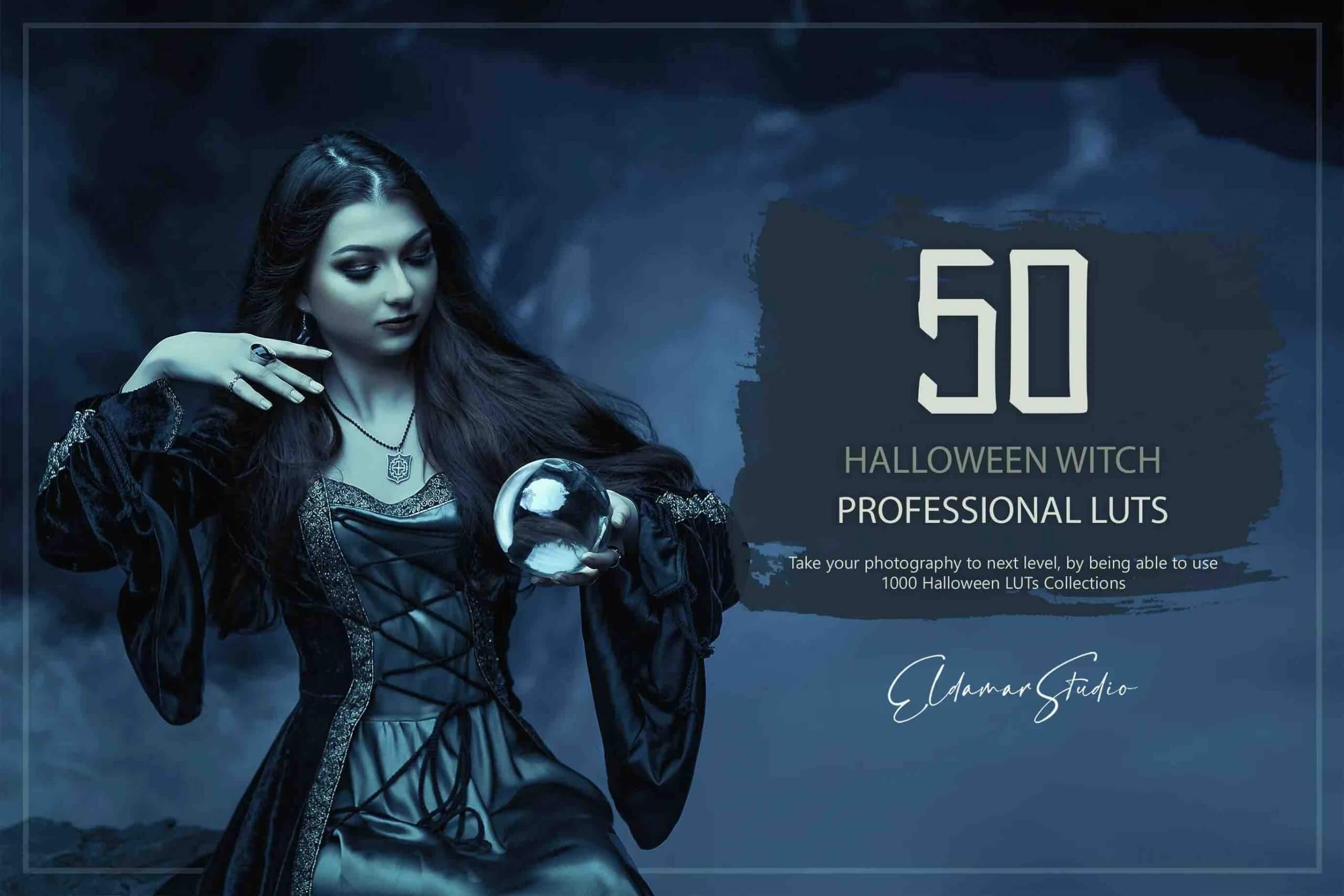 %title插图%num零号CG视觉平台50个万圣节女巫LUT和预设包