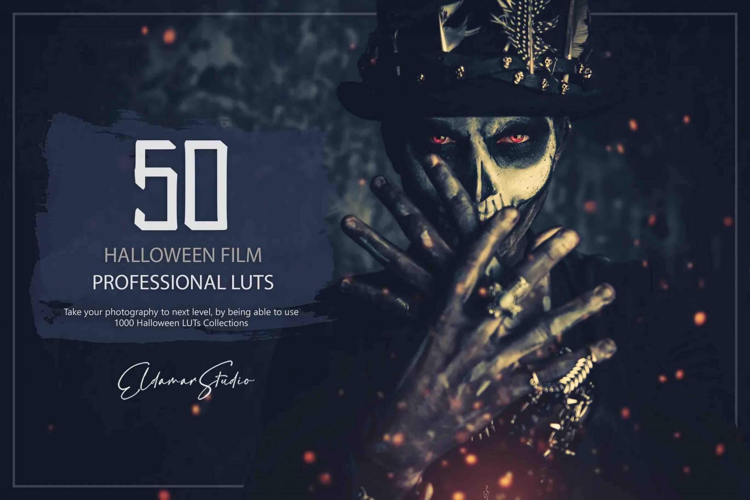 %title插图%num零号CG视觉平台50个万圣节电影LUT和预设包