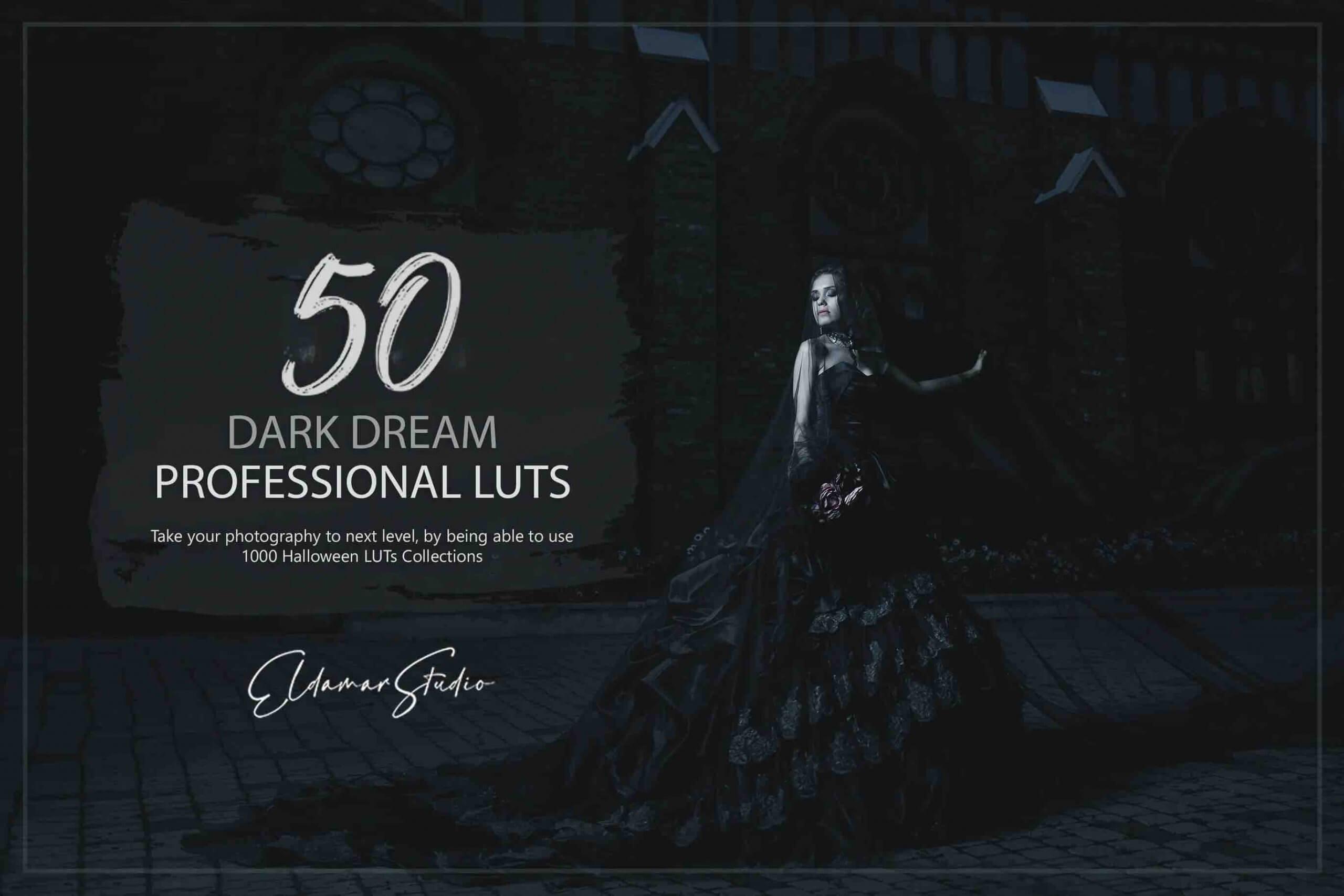 %title插图%num零号CG视觉平台50个Dark Dream LUT和预设包