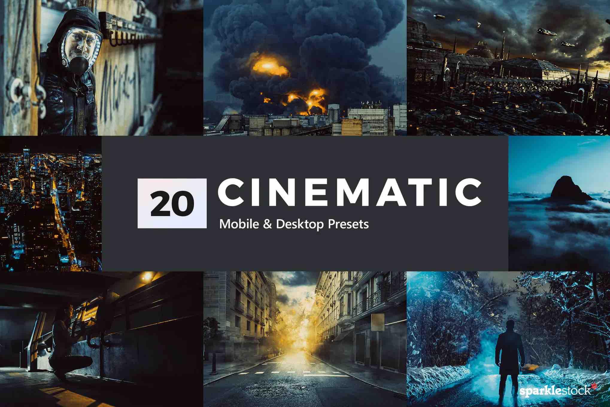 %title插图%num零号CG视觉平台20个电影Lightroom预设和LUT